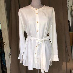 Sonia Rykiel long belted tunic shirt 44 L